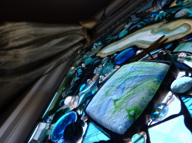 Stained Glass Abstract Art Mixed Media Panel Meylah