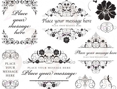 Digital Wedding Monogram Frame Vintage Flourish Clip Art Clipart Family Design Also Use As Sbook Embellishment 10447