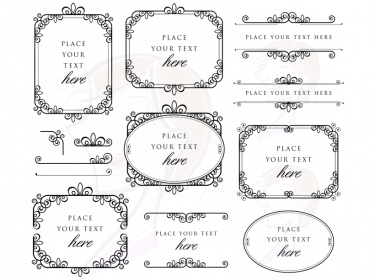 Ornate Digital Frames Clip Art Suitable For Use As