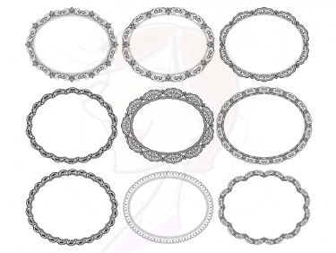 oval lace vintage doily border frame doyley digital frames clipart