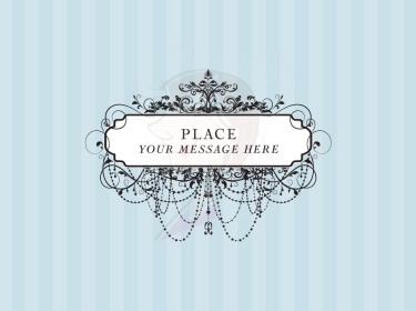 Vintage Frames Black Ornate Chandelier Digital Clipart