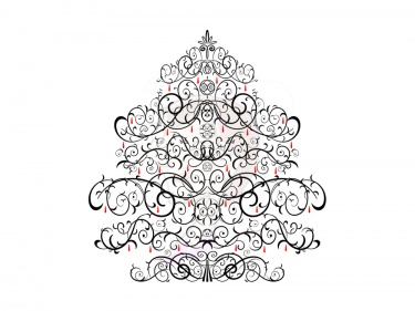 Black And Silver Christmas Wrapping Paper