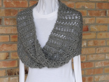 Knitting Pattern - Lace Stripe Mobius Cowl or Wrap Pattern Meylah