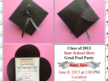 personalized graduation hat invitation meylah