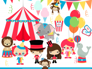 Circus Digital Clipart, clip art collection | Meylah