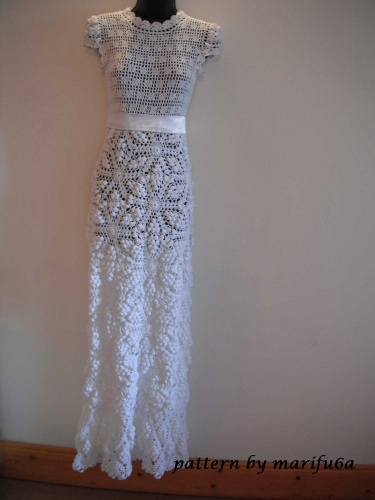 crochet wedding dress pattern pdf Nr25 | Meylah