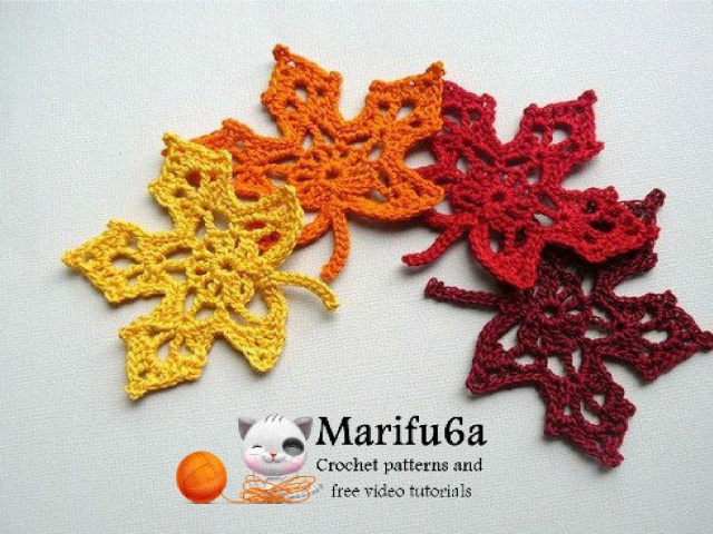 Crochet Maple Autumn Leaf Pattern Meylah