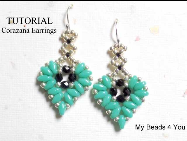 Corazana Beaded Earring Tutorial
