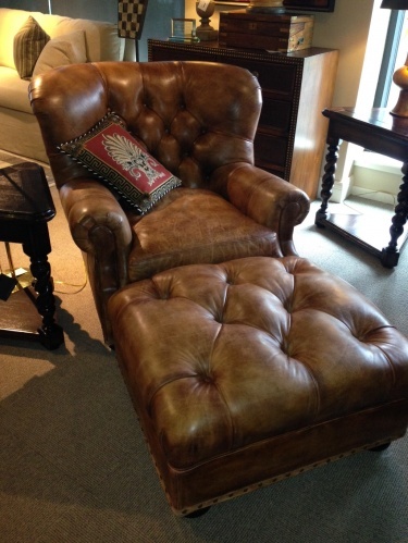 Hancock And Moore Leather Chair And Ottoman | Meylah