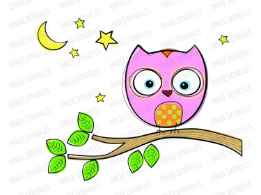 Owls Clip Art Set - cute cartoon owl pictures, baby shower owl ...