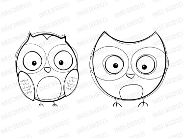 Black And White Baby Owl Clip Art Cute owls clip art instantBaby Owl Clipart Black And White