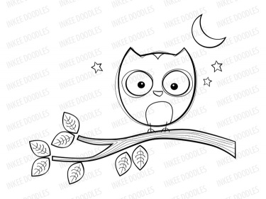 Cute Owls Clip Art instant download. For Educational ...