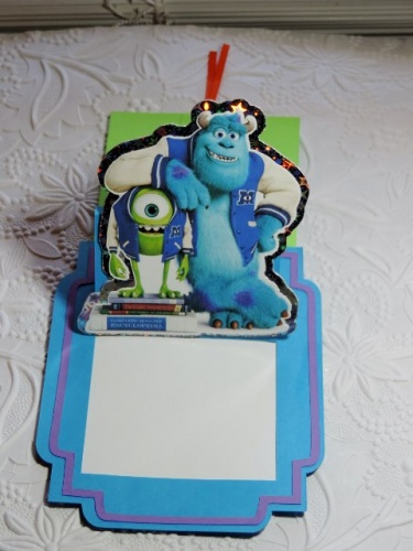 Party Invitations Birthday Decorations Card Stock Invites 3d Pop Monsters University