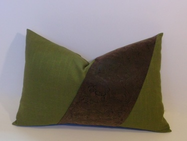 Button Pillow Cover Olive Green Meylah