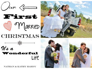 Christmas Cards- Our First Married Christmas   Meylah