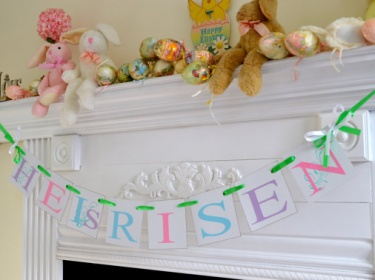 easter banner garland easter decoration he is risen