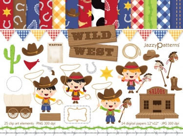 wild west clip art and digital paper pack meylah rh meylah com wild west clip art borders old west clipart