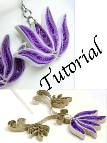 Paper Quilling Tutorial for Jewelry PDF Lotus Flower and ...