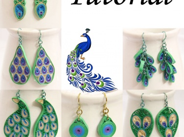 Pdf Tutorial Make Your Own Pea Inspired Paper Quilled Earrings