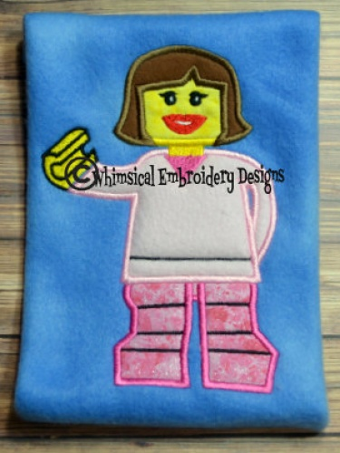 Lego Girl Applique Machine Embroidery Design INSTANT DOWNLOAD   Meylah