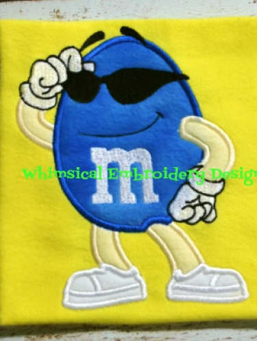 M&M Blue Candy Applique Machine Embroidery Design INSTANT DOWNLOAD ...