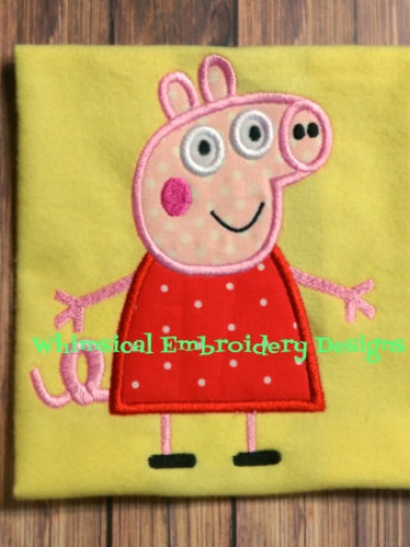 Peppa Pig Embroidery Designs Pes