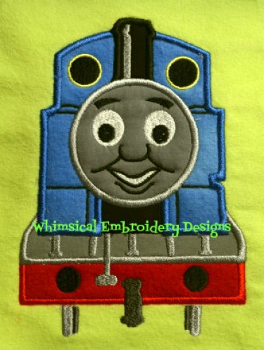 Thomas The Train Applique Machine Embroidery Design Instant Download