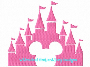 Mickey castle filled machine embroidery design instant Design a castle online
