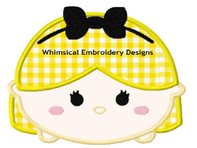 Alice In Wonderland Tsum Tsum Machine Embroidery Applique Design