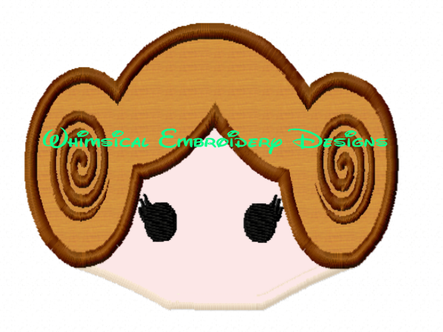 Princess Leia Star Wars Half Face For Hooded Towels Applique Machine