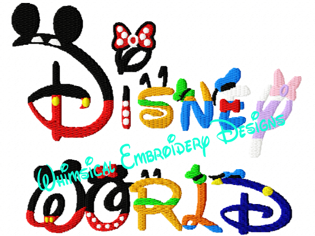 Mickey And The Gang Embroidery Designs