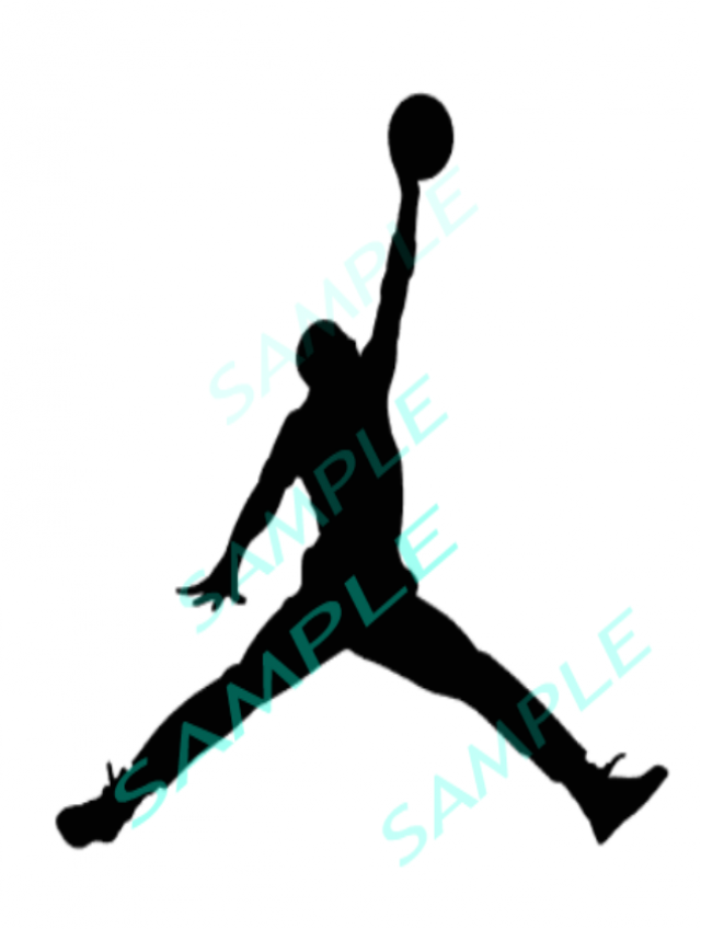 air jordan basketball player cut file silhouette svg instant download