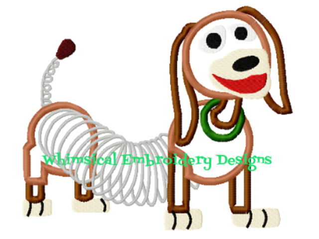 slinky dog. slinky dog toy story machine embroidery applique design instant download