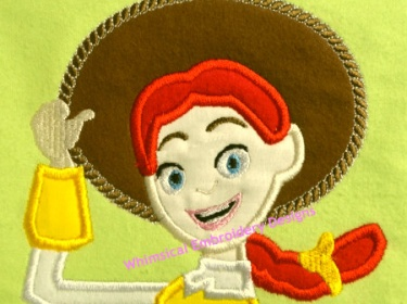 Jesse Toy Story Applique Machine Embroidery Design Instant
