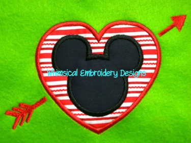 Chocolate candy appliqué embroidery design valentines day