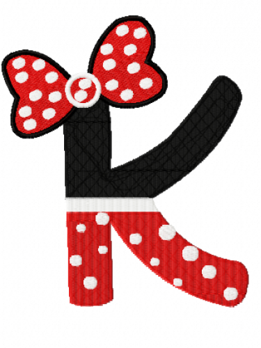 Minnie Mouse Letters Filled A Z Machine Embroidery Designs