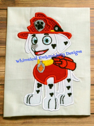 Marshall Paw Patrol Applique Machine Embroidery Designs INSTANT DOWNLOAD | Meylah