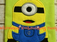Minion one eye applique machine embroidery design instant download