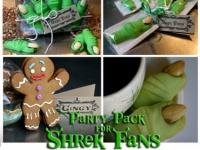 Shrek Fans Party Pack Of Delightfully Wicked Ogre Toes Gingy Cookies Meylah