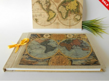 Old world map sketchbook journal with 200 pages a4a3a5 refillable old world map sketchbook journal with 200 pages a4a3a5 refillable fabric sketchbook personilized journal with a ribbon bookmark gumiabroncs Gallery