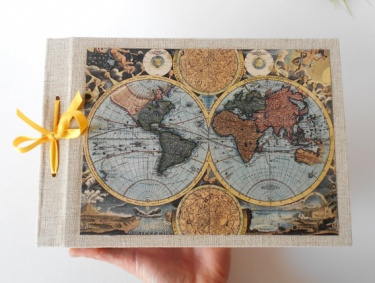 Old world map sketchbook journal with 200 pages a4a3a5 old world map sketchbook journal with 200 pages a4a3a5 refillable fabric sketchbook personilized journal with a ribbon bookmark sciox Images