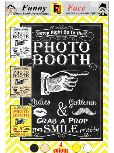 INSTANT DOWNLOAD - DIY Printable Photo Booth Sign Vintage Wedding  photobooth board post party prop 2 size | Meylah