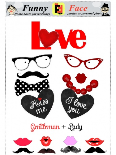 picture regarding Printable Lips named 17 Do-it-yourself Photograph Booth Printables mustaches, lips, сhalkboard signs and symptoms, speech bubbles for weddings, engagement, birthday, get-togethers Meylah