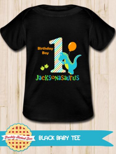Personalised Dinosaur Birthday Baby T Shirt