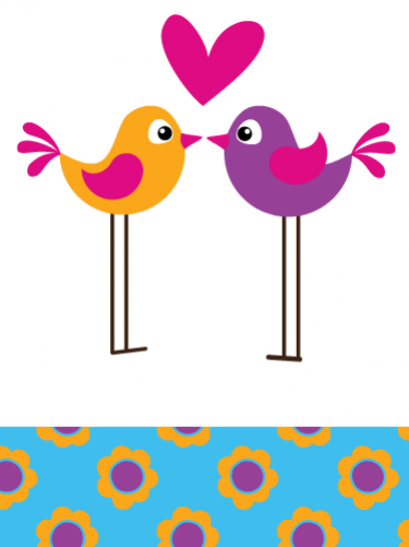 Digital Clip Art - Flower Birdies in Bright Lollipop Colors - Pink ...