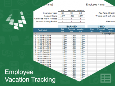Employee Vacation Tracking Template Meylah