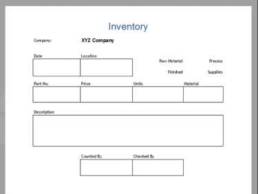 inventory tag template