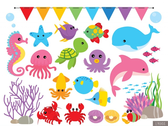 Under The Sea Digital Clipart and Papers | Meylah