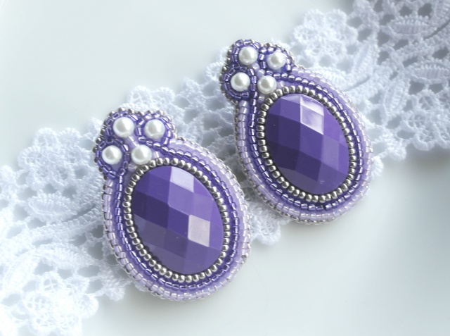 Purple Earrings Fancy
