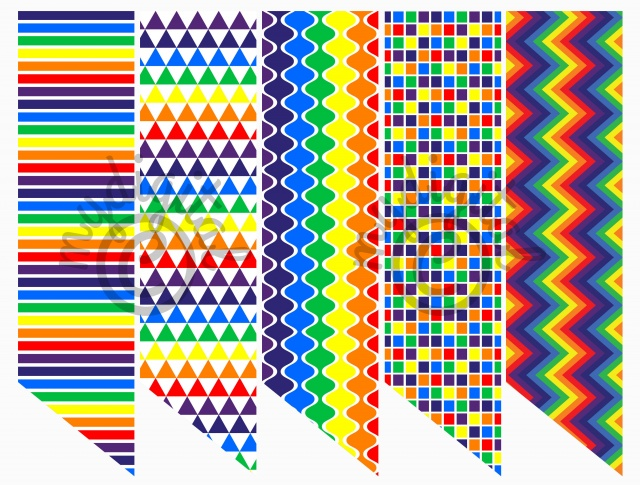 Printable Bookmarks, Variety Printed Bookmarks,Rainbow Colours,Bookmarks To  Print, Instant Download,Digital Prints 2x8 set of 5 - BM03 | Meylah